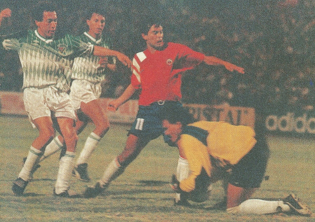 Chile y Bolivia en partido amistoso, 31 de marzo de 1993