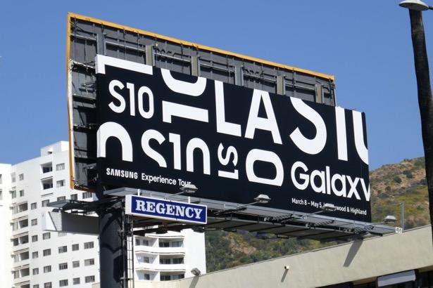 Samsung Galaxy S10 Experience LA billboard