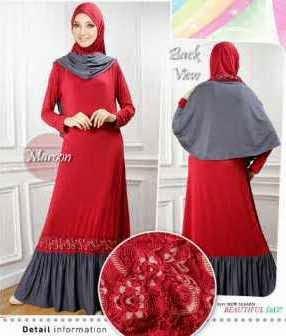 Gambar Baju Muslim Gamis Modern Wanita
