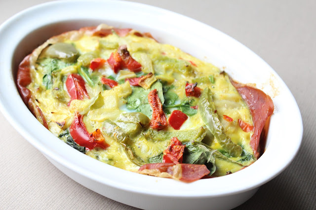 Prosciutto Egg Bake, easy Whole30 breakfast