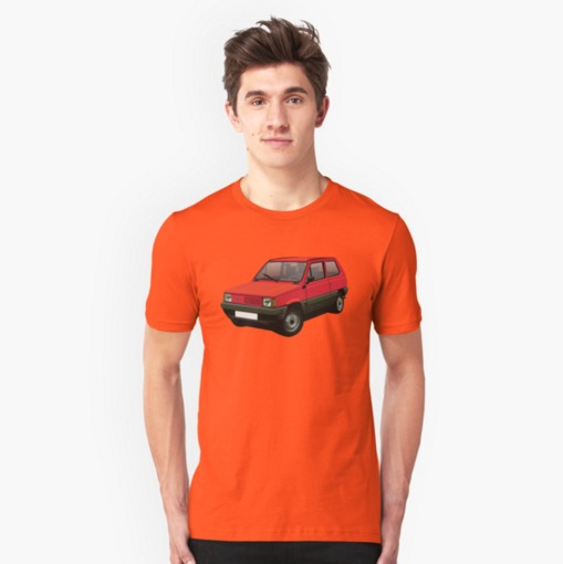 Fiat Panda Mk1 t-shirt on Redbubble
