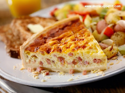 Quiche au Fromage et Dinde Fumée | Cheese and smoked turkey quiche