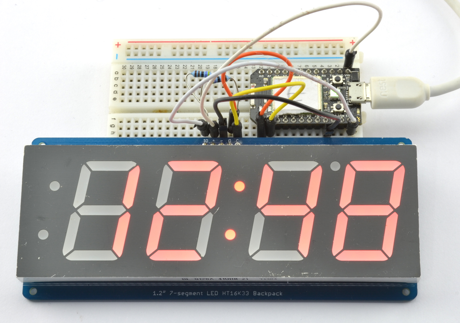 dr monk 39 s diy electronics blog a simple led clock using