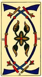 Tarot de Marsella: Dos de Espadas
