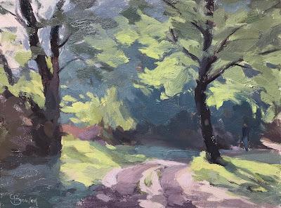 #180 'Spring, Bramshott Common' 18x24cm