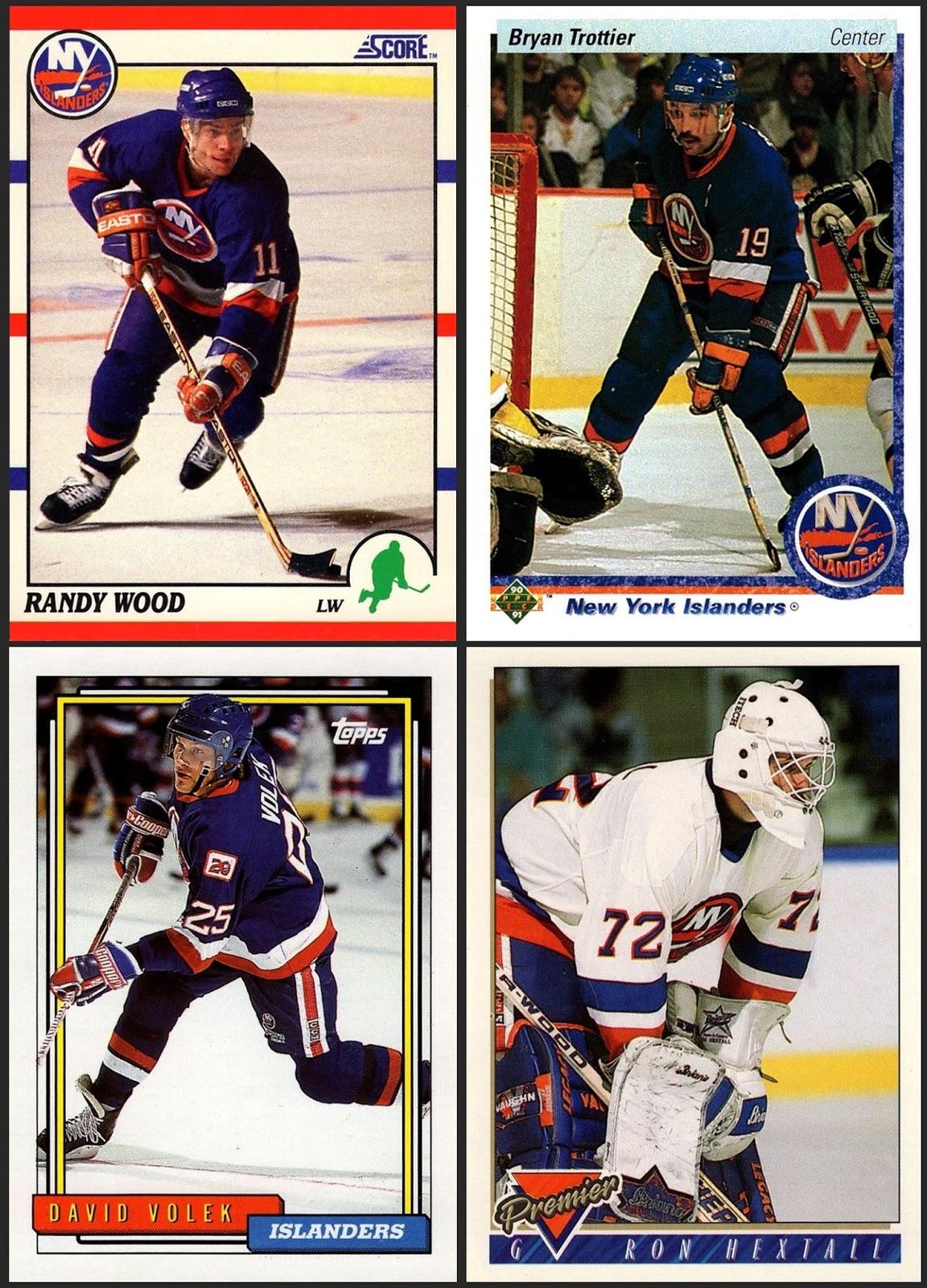 274b38ca9a0 New York Islanders - 4 cards 1990-91 Score American  119 1990-91 Upper Deck   137 1992-93 Topps  204 1993-94 Topps Premier  468