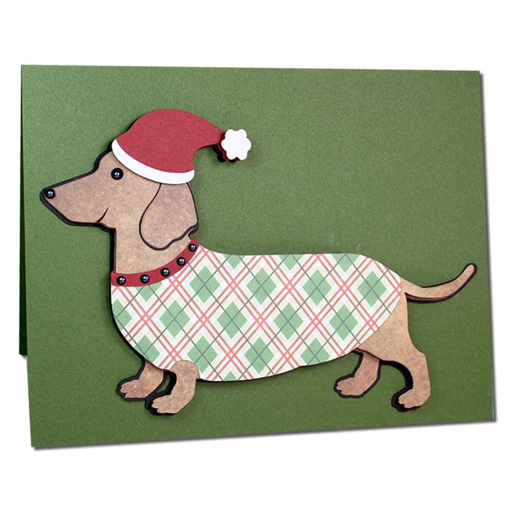 Jmrush designs dachshund christmas card dachshund christmas card kristyandbryce Image collections
