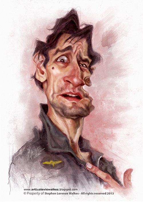 "Caricatura de ""Robert De Niro"" por Stephen Lorenzo Walkes"