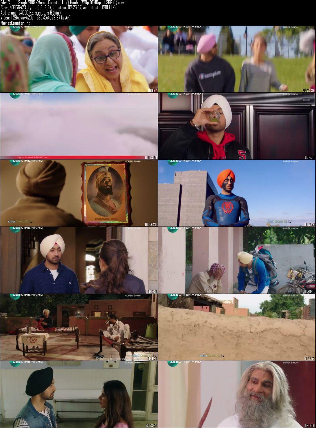 Screen Shots Super Singh 2017 Punjabi Hindi HD 720p