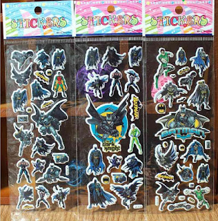 10 fogli adesivi stickers gadget economico regalo festa compleanno bambini a tema batman lego justice league avengers.