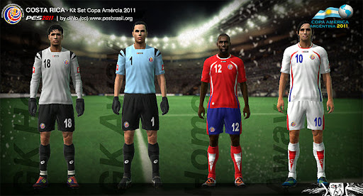 Costa Rica Copa America 2011 Kit Set by diNo