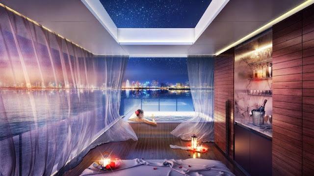 """Nội thất phòng tắm biệt thự """"nửa nổi nửa chìm"""" ở Dubai"""