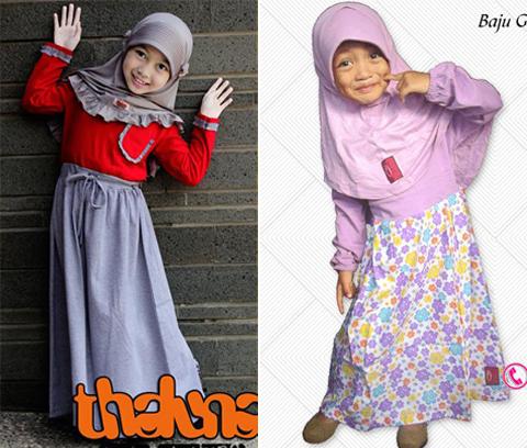 baju muslim anak perempuan umur 2 tahun