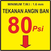 Sticker Tekanan Angin Ban