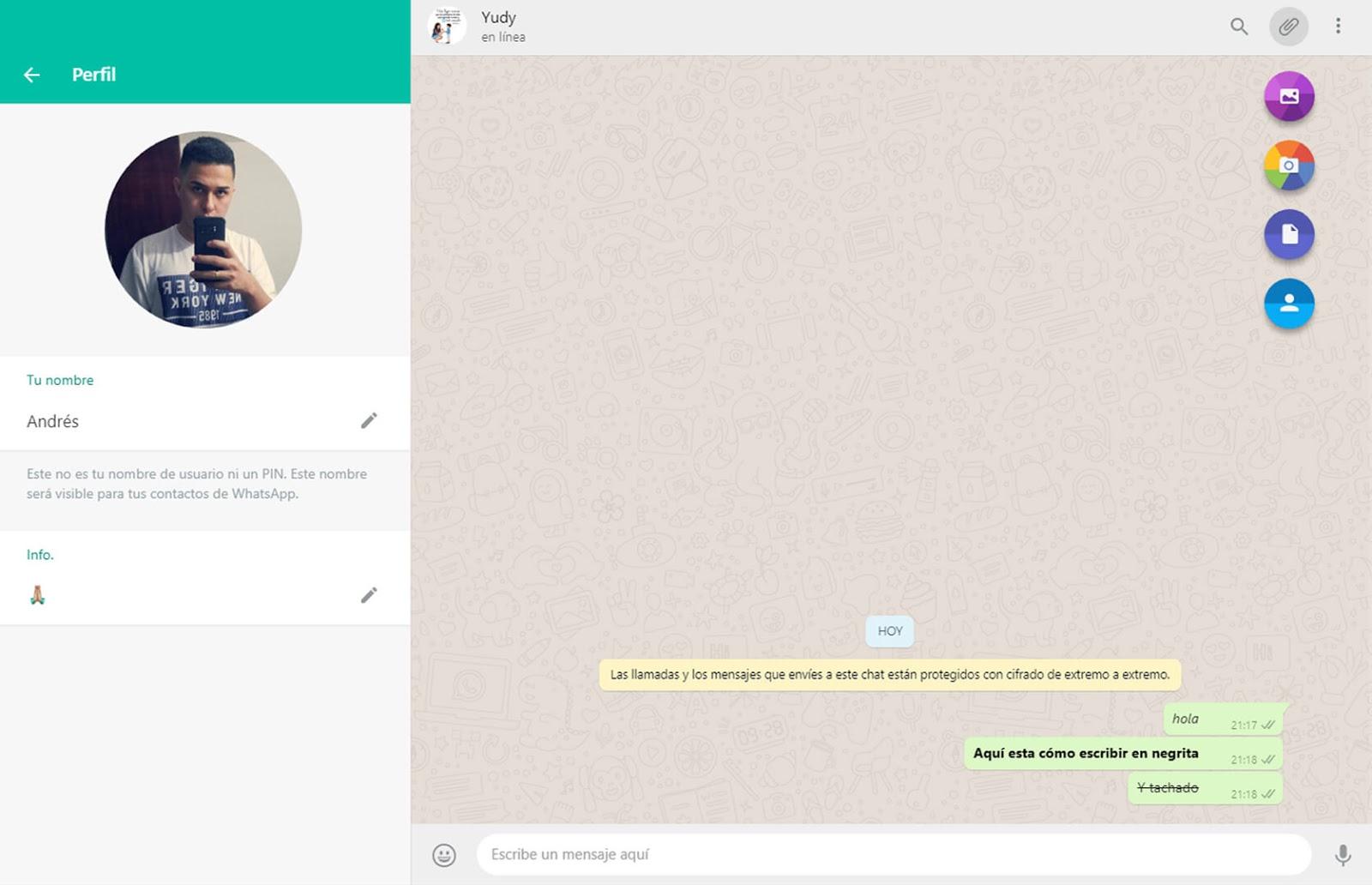 Compartir en WhatsApp Web