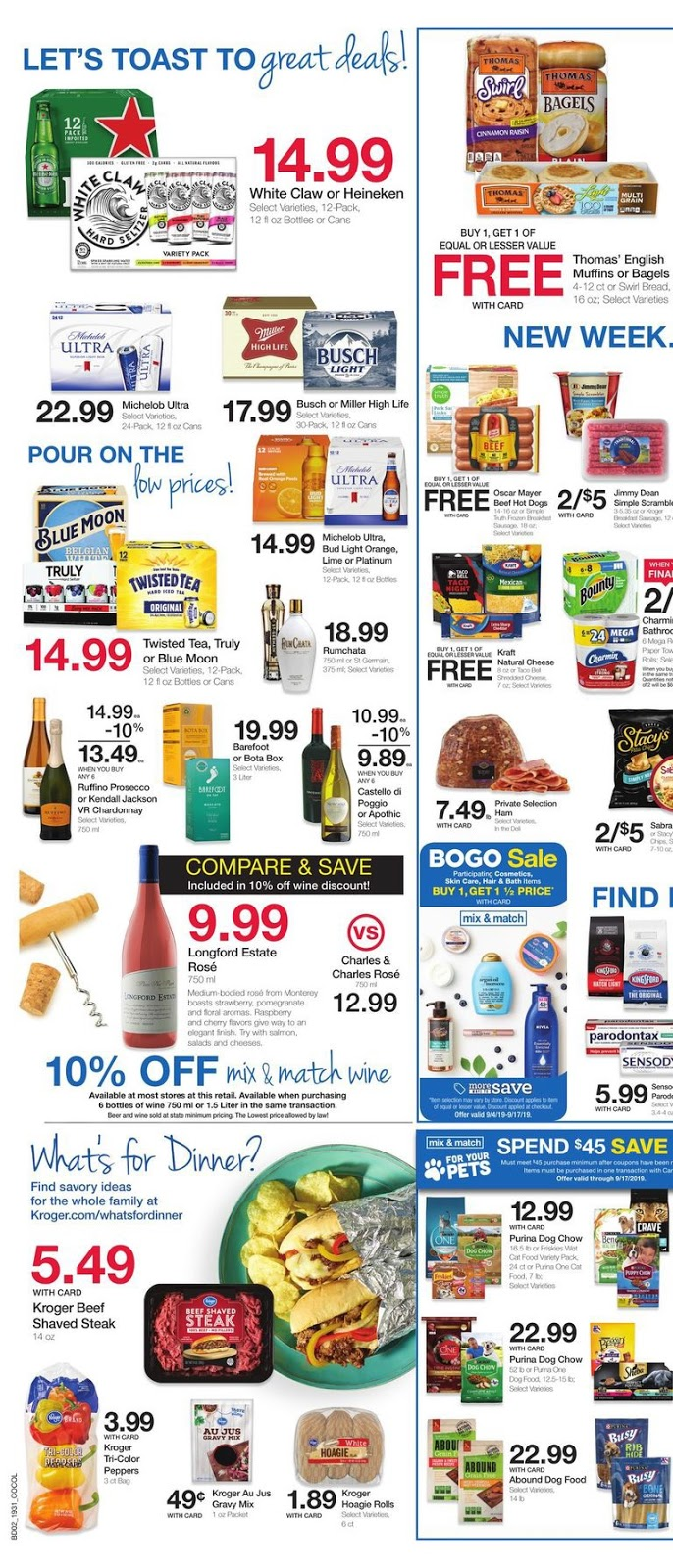 Kroger Ad September 4 - 10, 2019 and Kroger Ad 9/11/19