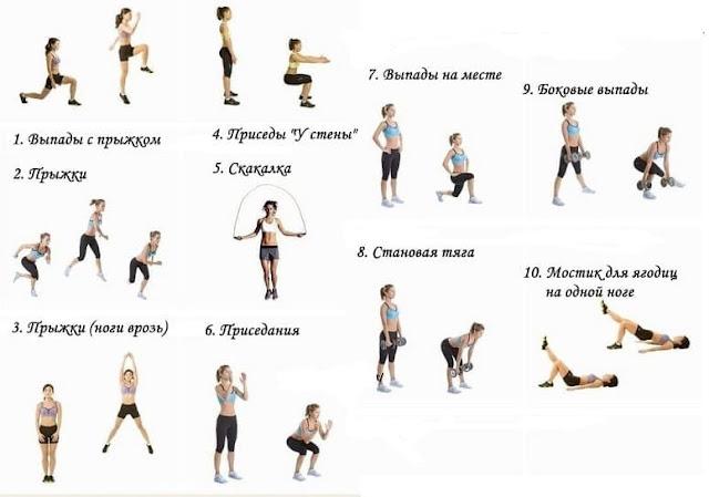 С помощью каких упражнений можно похудеть