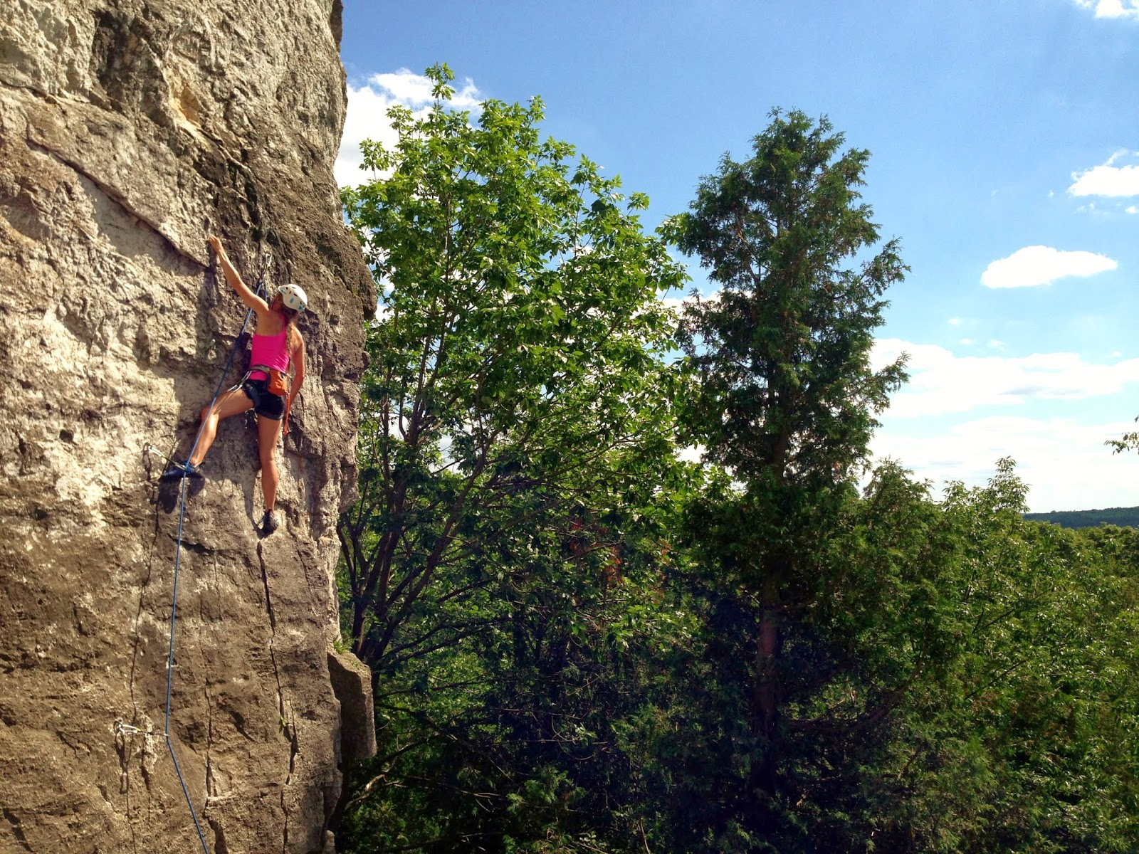 Outdoor rock climbing