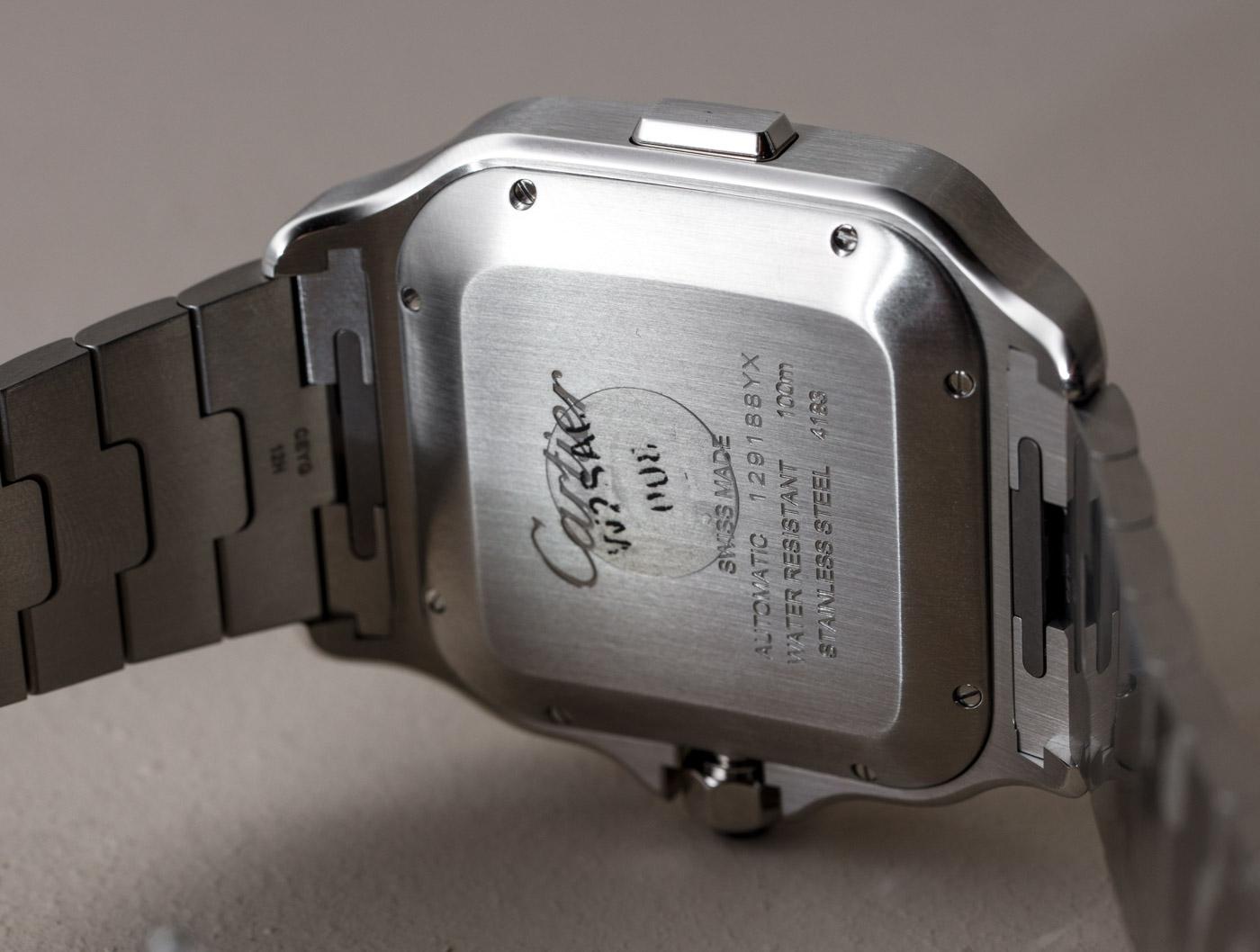 4ec27c98dbb AAA Replica Cartier Santos Automatic Chronograph Silver Dial Black ADLC  Bezel Stainless Steel Watch Introducing