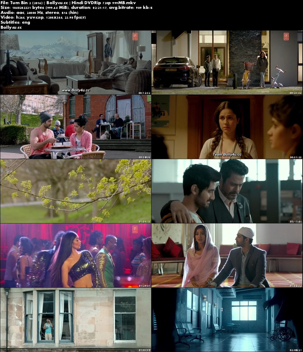 Tum Bin 2 2016 DVDRip 400MB Hindi 480p Download