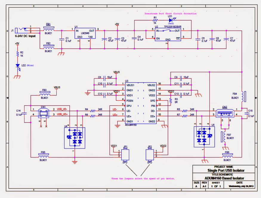 Usb Isolator Circuit