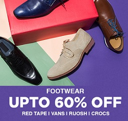 Jabong End of Season Sale: Upto 60% Off on Men's Footwear (VANS, Red Tape, Ruosh, Crocs) + Extra Cashback with SBI Credit Card & Paytm wallet