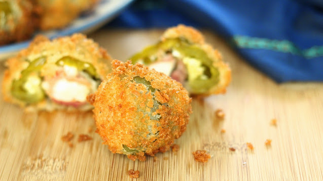 Fried Hot Stuffed Cherry Peppers
