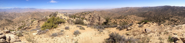 Panorama north from Warren Point (5103'), Black Rock Canyon, Joshua Tree National Park