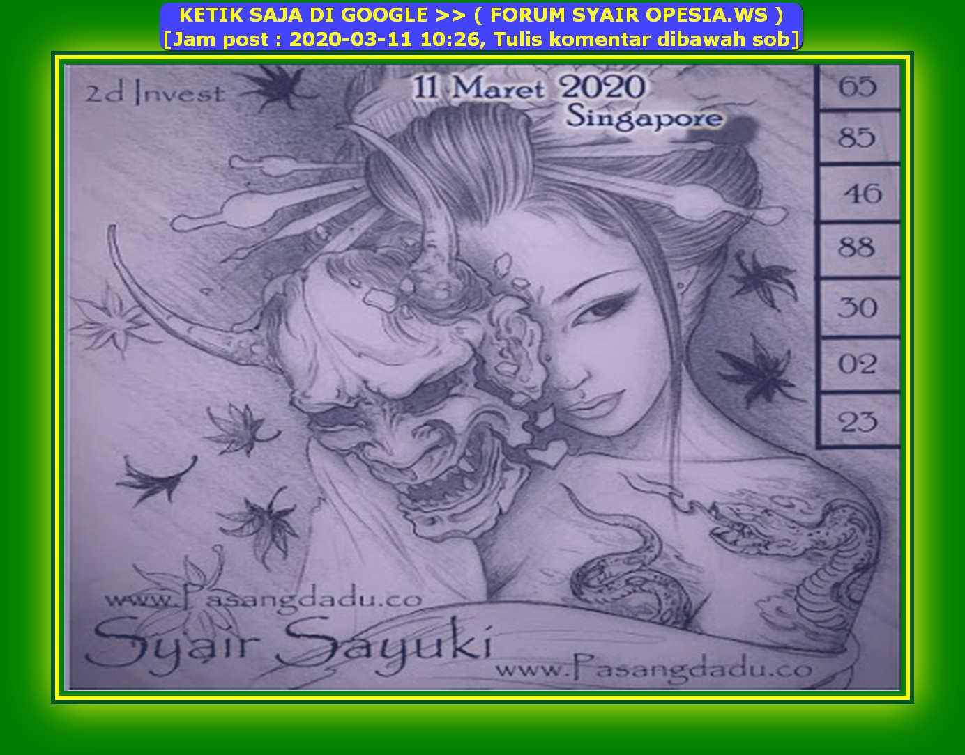 FORUM SYAIR SGP OPESIA.WS