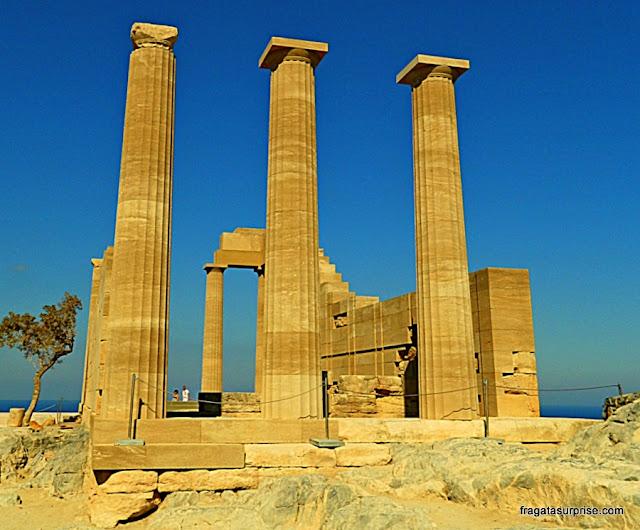 Templo de Atena, Acrópole de Lindos, Grécia