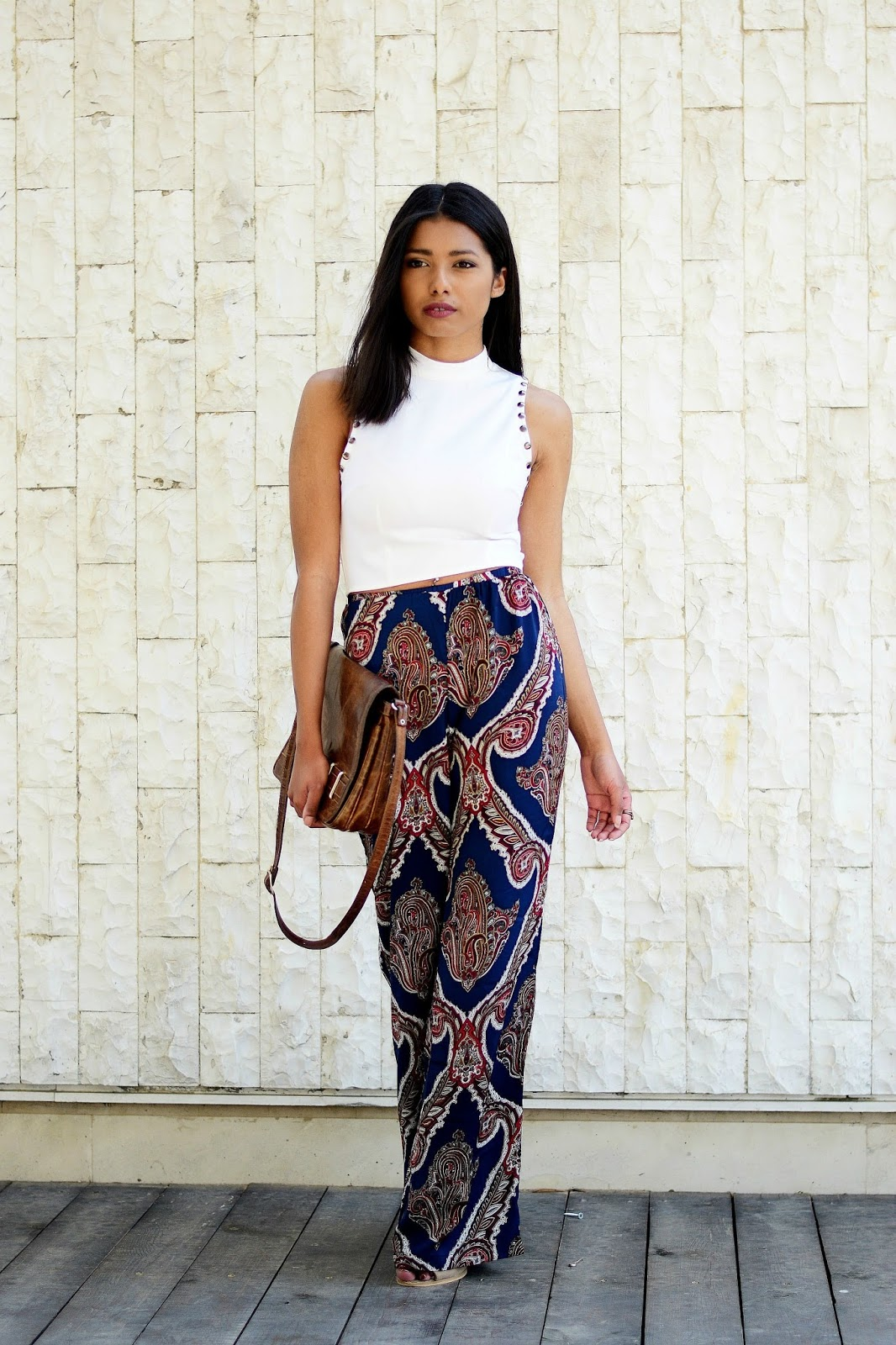festival paisley print trousers