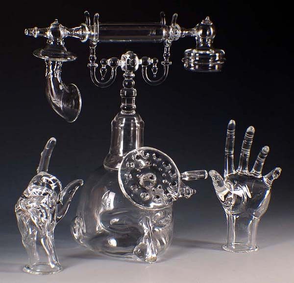 Impresionante esculturas de cristal.