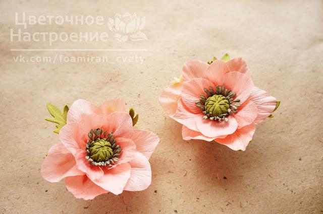 цветы из зефирного фоамирана