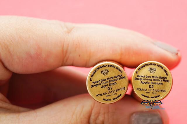review-lipstick-inez-perfect-glow-matte-01-light-blush-&-02-apple-blossom-lipstik