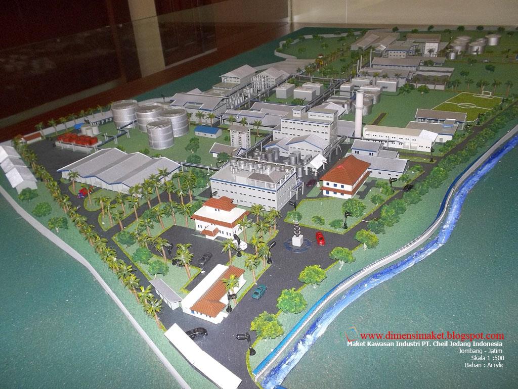 Maket Kawasan Industri PT. Cheil Jedang Indonesia (CJI)