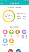 圖說:每日營養目標。圖片來源:Cofit app