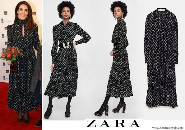 Princess Marie wore Zara Spade Print Dress