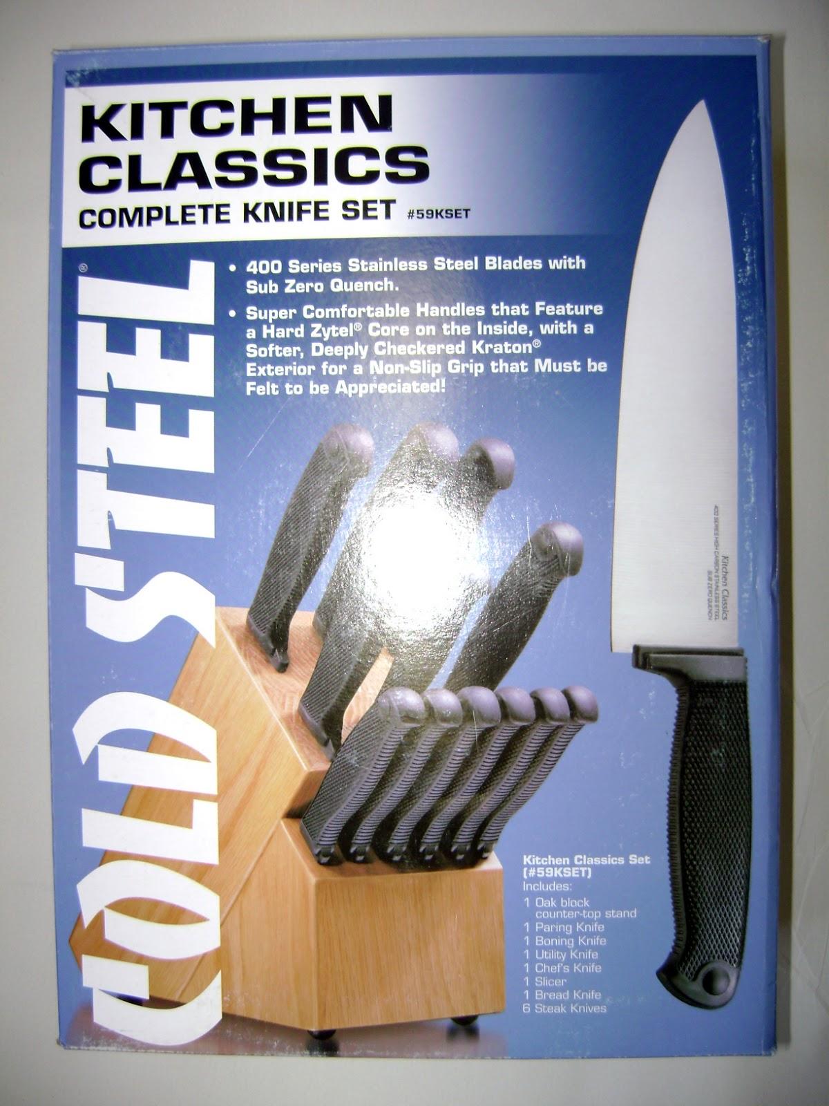 skl diy uptown: cold steel kitchen classic knife set 59k set
