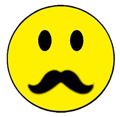 Yellow Smiley Thick Mustache