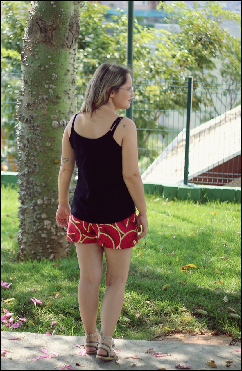 shorts saia colorido