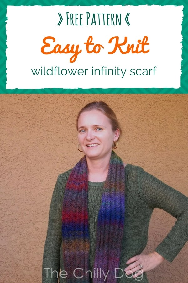 Free Knitting Pattern: Easy knit infinity scarf that can be worn 3 ways
