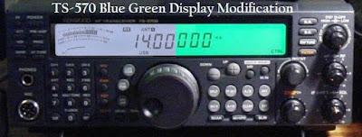 Kenwood TS-570 Blue Green