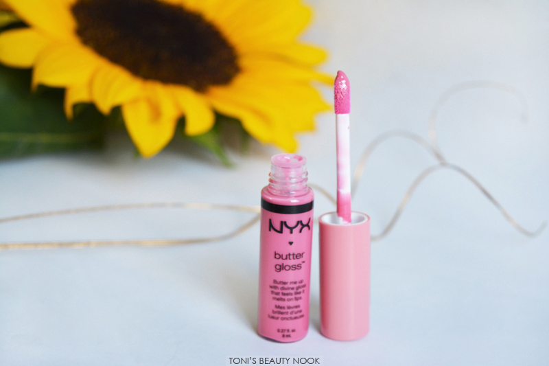 nyx butter gloss vanilla cream pie lip gloss