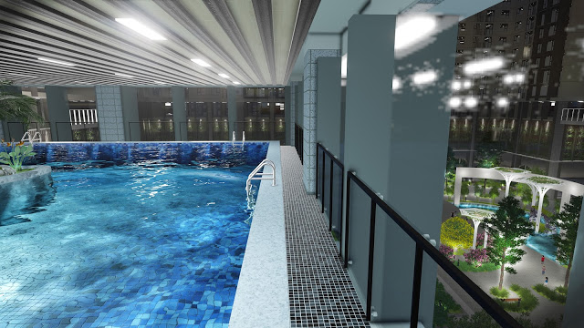 Bể bơi chung cư Eco Green City