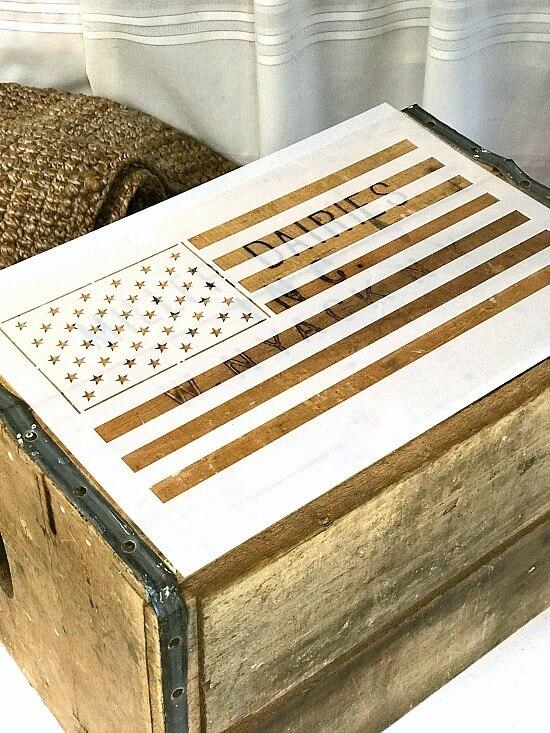 American flag stencil set