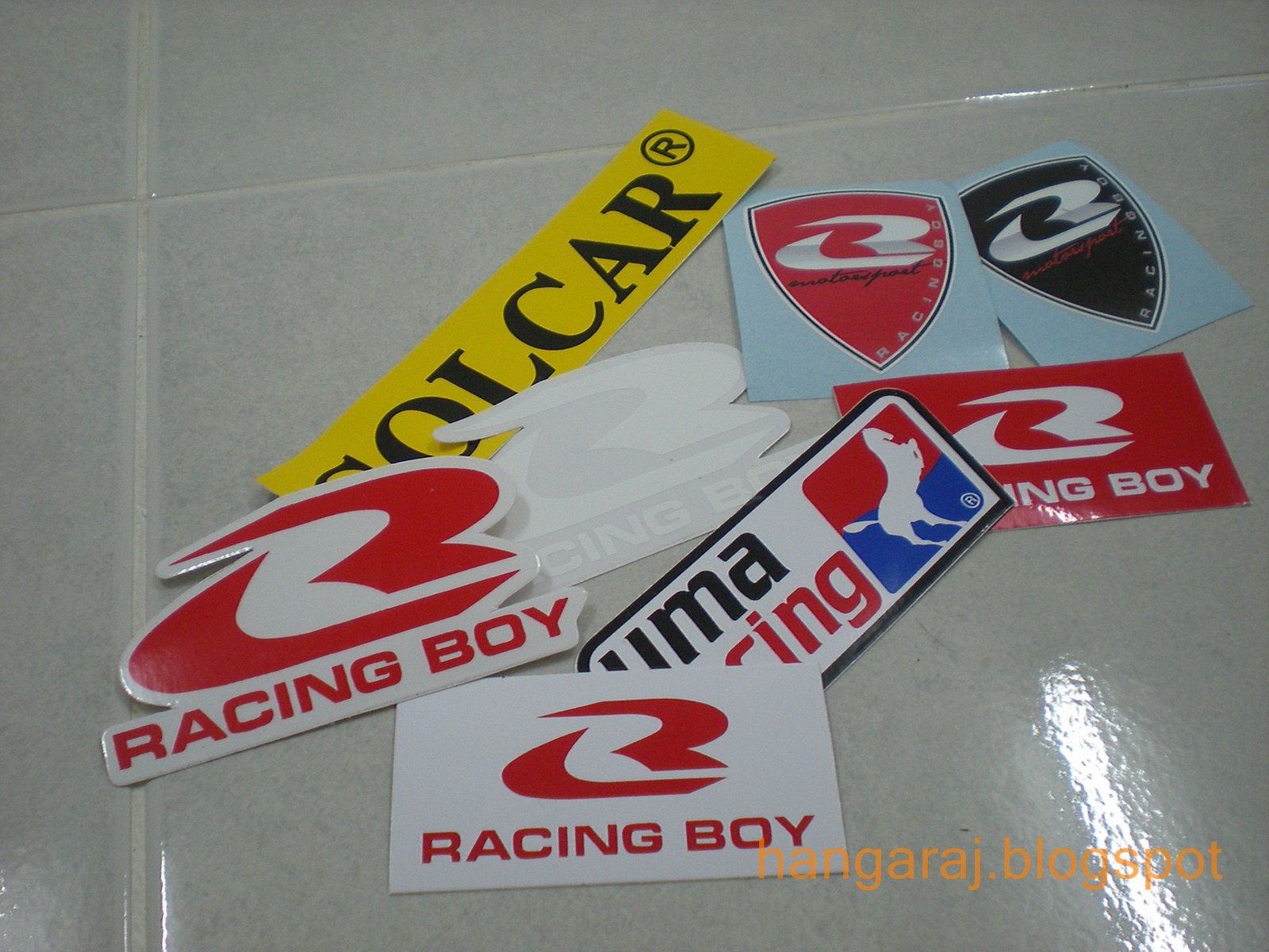 Thank you racing boy for some free sticker gonna stickerbomb my moped