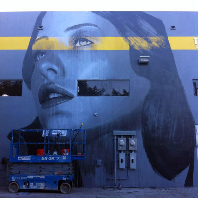 Work In Progress by Australian Street Artist RONE for Art Basel Miami 2013. 1