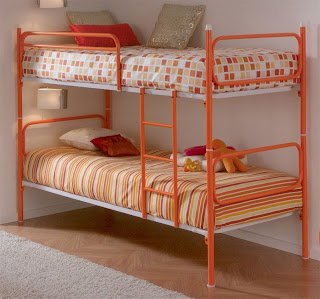 cama forja color, cama litera convertible, cama alta forja, cama 2 niños, camas infantiles