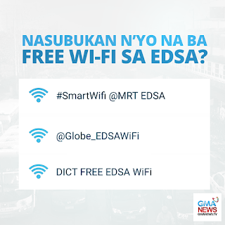 DICT, Globe and Smart Launched Free WiFi on EDSA