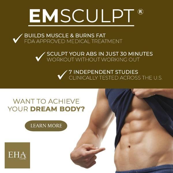 eha clinic emsculpt six packs builds muscle